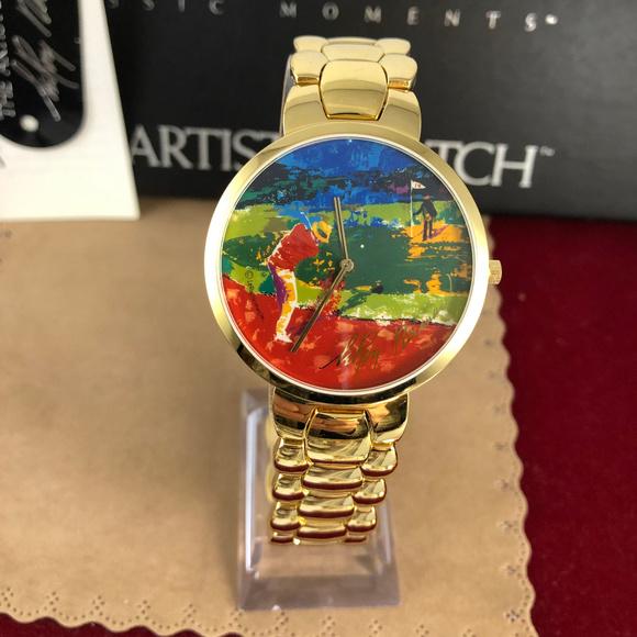 Bulova Other - Vintage LeRoy Nieman Chipping On Artist Gold Watch